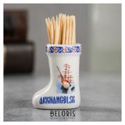 Сувенир для зубочисток в форме валенка «Архангельск»
