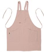 Фартук из умягченного льна розово-пудрового цвета из коллекции essential Tkano 82х70 см