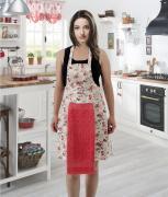 Фартук кухонный с салфеткой из велюра 30x50
