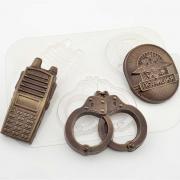 Форма для шоколада «Полиция»