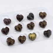 Форма для шоколада «Сердце граненое»