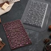 Форма для шоколада «Плитка сердечки»