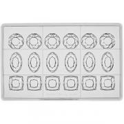 Форма д/шоколада «Бриллианты 3х видов» на листе 275*175мм[24шт];поликарбонат COM- 04147360