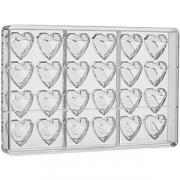 Форма д/шоколада «Бриллиант сердце» на листе 275*175мм[24шт];поликарбонат;,H=15,L=33,B=33мм;прозр. COM- 04147359