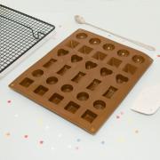 Форма для шоколада 30 ячеек Микс