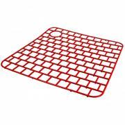 Сетка пластиковая в раковину прямоугольная 32х32х0,3 см красная