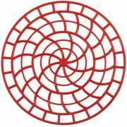 Сетка пластиковая в раковину VT круглая 31 см красная