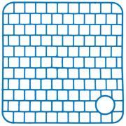 Сетка пластиковая в раковину VT прямоугольная 32х32х0,3 см синяя