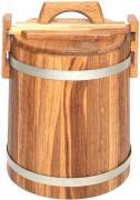 Кадка дубовая 15л, оцинкованный обруч Бонпос