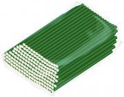 Трубочки бумажные Gratias зеленые 200шт