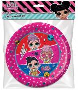 Бумажные тарелки LOL Surprise трехцветные 6шт