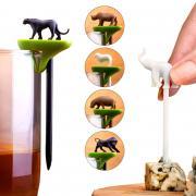 Набор шпажек-маркеров для бокалов hot animal Qualy