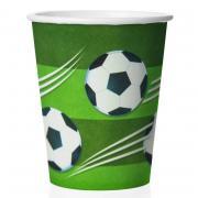 Стакан Футбол зеленый 8шт, 250мл (бумажный)