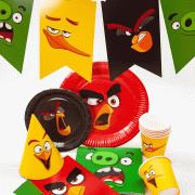 Набор праздничной посуды Angry Birds на 6-12 человек