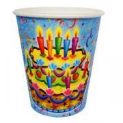 Стаканы Праздничный торт 250мл, 6шт