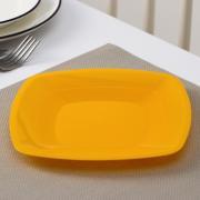 Мистерия Тарелка одноразовая, квадратная, плоская, 18 см, цвет МИКС, 6 шт/уп