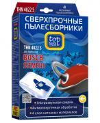 TOP HOUSE THN 4022 S Cверхпрочные нетканые пылесборники, 4 шт. для пылесосов BOSCH Ergomaxx и SIEMENS DynaPower