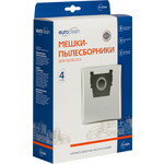 Фильтр для пылесоса Euroclean совместимы с ZELMER тип оригинального мешка: 2700, 2010, 2000, 2000, 1100, 919, 828, 818, 450, 400, 4 шт (E-53/4)