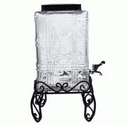 """Лимонадник (банка-емкость с краном и подставкой) 8 литров """"Куб Винтаж"""""""
