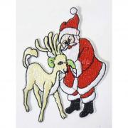 Термоаппликация Санта Клаус и олень Астра