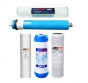 Полный комплект фильтроэлементов для AQUAPRO 5 ступеней с помпой