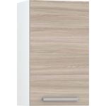 Шкаф навесной 400 Моби Кухня Лима белый/ясень шимо светлый