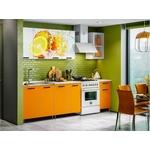 Кухня Миф Апельсин 2,0 м с фотопечатью ЛДСП