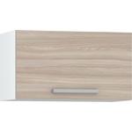 Шкаф навесной 600 Моби Кухня Лима горизонтальный белый/ясень шимо светлый
