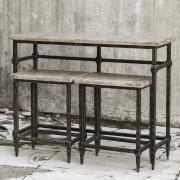 Барный стол и стулья в винтажной отделке S/3 Uttermost Tameron 25728