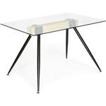 Стол TetChair Frondo (mod. DT1356) металл/стекло/дерево прозрачный/натуральный/черный