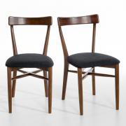 Комплект из 2 стульев, Bre La Redoute единый размер каштановый