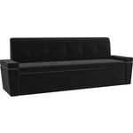Кухонный диван Мебелико Деметра микровелвет (черный)