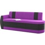 Кухонный диван Мебелико Токио ОД микровельвет фиолетово-черный левый