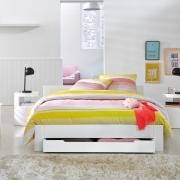 Столик цилиндрической формы Newark белого цвета