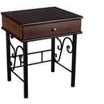 Тумба Мебелик Сартон 11 черный/средне-коричневый