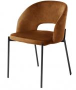 Кресло Earl, экозамша, коричневое Berg