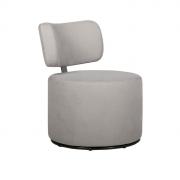 Поворотное серо-бежевое кресло Sits Mokka