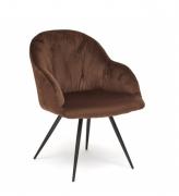 Кресло Livorno Tetchair коричневый вельвет