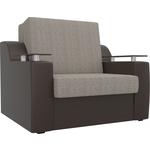 Кресло-кровать АртМебель Сенатор корфу 02 экокожа коричневый (60)