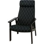 Кресло для отдыха Вилора с прострочкой тон № 4 luxa black