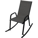 Кресло-качалка Мебиус Сан-Ремо каркас черный/ткань темно-серая D466-MT003