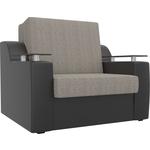 Кресло-кровать АртМебель Сенатор корфу 02 экокожа черный (60)