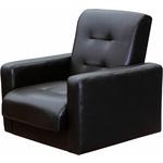 Кресло Экомебель Аккорд экокожа темно-коричневая