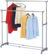 """Стойка для одежды Tatkraft """"Big Party"""", с регулируемой шириной, двойная, цвет: серый"""