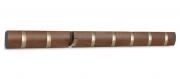 Вешалка настенная горизонтальная Flip 8 крючков коричневая Umbra
