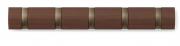 Вешалка настенная горизонтальная Flip 5 крючков коричневая Umbra
