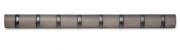Вешалка настенная горизонтальная FLIP 8 крючков серая, олово Umbra
