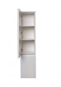 Шкаф-пенал Style Line Даллас 30 Люкс Plus подвесной, с корзиной, белый