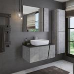 Мебель для ванной Comforty Эдинбург 90 бетон светлый, правая