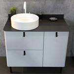 Мебель для ванной Comforty Сорренто 90 с бельевой корзиной, серый